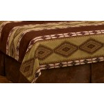 image for Pueblo Heather Southwest Style Reversible Coverlet
