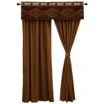 image for Pueblo Heather Valance & Tracker Woven Drapery Set 84 Long