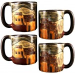 image for Pueblo Village 4-Pc Mara Stoneware Mugs 16-oz