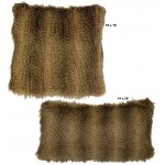 image for Raccoon Faux Fur Throw Pillow Set of 2