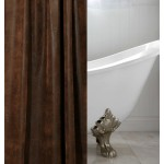 image for Ranger Brown Faux Leather Luxury Custom Shower Curtain