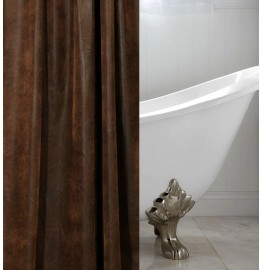 image for CUSTOM SIZE ORDER Ranger Brown Faux Leather Luxury Shower Curtain 72X75