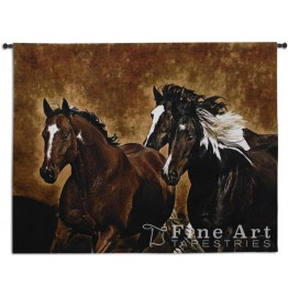 image for Horses Ready to Run Wall Tapestry & Rod 53 x 63