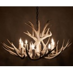 image for Genuine Mule Deer Antler Chandelier 8 Light Sun Bleach Finish