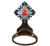 image for Red Jasper Stone Burnished Steel Towel Ring