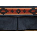image for Redrock Canyon Tailored Bedskirt Navy Suede