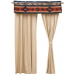image for Redrock Canyon Valance & Natural Linen Drapery Set 84 Long