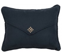 image for Redrock Canyon Navy Suede Throw Pillow 10 x 13