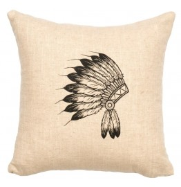 image for Redrock Canyon Indian Headdress Image Pillow 16 x 16
