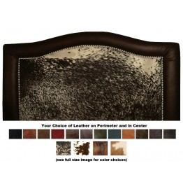 image for Ridge Leather Upholstered QUEEN Headboard