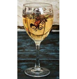 image for Rodeo Brand Bronc Rider 8-pc Wine Glasses 15.5 oz