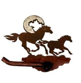 image for Running Horses Bath Tissue Holder Burnished