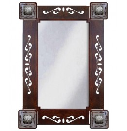 image for Rustic Concho Accent Ranch Mirror 33 x 23