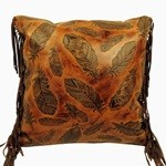 image for Embossed Leather Pillows