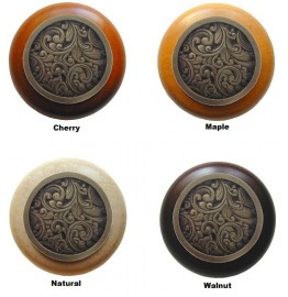 image for Saddleworth 1-1/2 Antique Brass on 4 Wood Choices