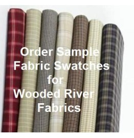 image for Z Wooded River Sample Fabric Swatch