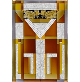 image for Santa Fe Mission Style Art Glass Panel 20.5 x 30.5