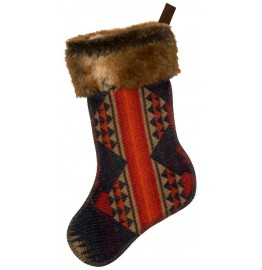 image for Socorro Wool Blend & Faux Chinchilla Fur Christmas Stocking