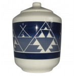 image for Oglala Blue Lakota Sioux Pottery Cookie Jar