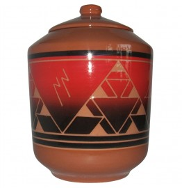 image for Lakota Fire Lakota Sioux Pottery Cookie Jar
