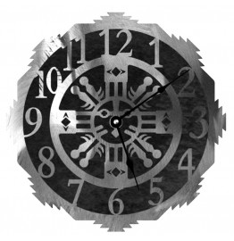 image for Sand Painting Style Steel Wall Clock 12 inch
