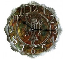 image for Southwest YeiBiChi Navajo Figure Steel Wall Clock 18 inch