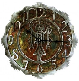 image for Southwest YeiBiChi Navajo Figure Steel Wall Clock 12 inch