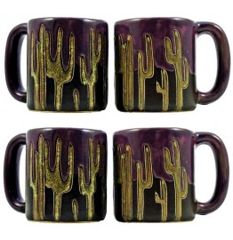 image for Cactus Mara Stoneware 4-Pc Mug Set 16 oz