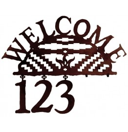 image for Navajo Geometric Design Southwest Address Sign