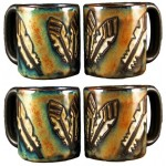 image for Feathers Mara Stoneware Round Mug 16oz Set of 4