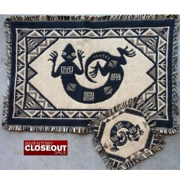image for Desert Gecko Southwest Cotton Placemat & Coaster Set of 4*