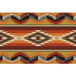 image for Southwest Geometric Flame Woven Placemat Set of 8