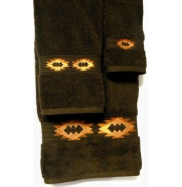 image for Gallop Southwest Medallion 3-Pc Bath Towel Set Brown