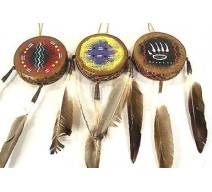 image for Mini Navajo Drum Southwest Christmas Ornament