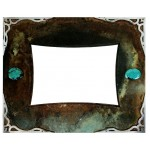 image for Burnished Steel & Turquoise Western Photo Frame 5 x 7