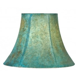 image for Turquoise Southwest Faux Leather Lamp Shade 6x12x9