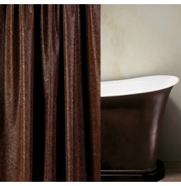image for Stagecoach Faux Leather Luxury Custom Shower Curtain