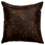 image for Stampede Leather Brands Embossed Throw Pillow 16 x 16