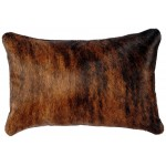 image for Western HOH Brindle Cowhide Throw Pillow 12 x 18