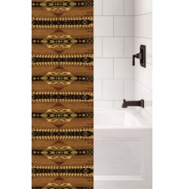 image for Stampede Southwest Luxury Upgrade Fabric Shower Curtain Custom Made