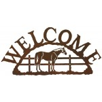 image for Standing Horse Rustic Western Welcome Sign