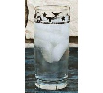image for Steers & Stars 15.5 oz  Water Glass Tumblers Set of 8