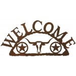image for Texas Longhorn & Stars Western Welcome Sign