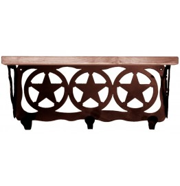 image for Ranger Star 20 inch Western Wall Shelf (hooks avail)