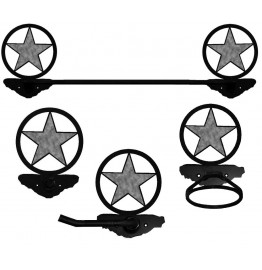 image for Texas Star Burnished Steel Towel Bar Set 4 piece