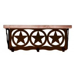 image for Texas Star Western 20 inch Wall Shelf (hooks avail)