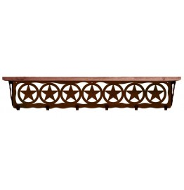 image for Texas Star Western 42 inch Wall Shelf (hooks avail)