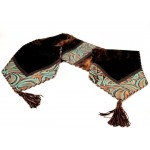 image for Turquoise Leather & Cowhide Leather Table Runner 12 x 54