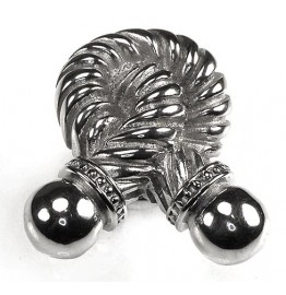image for Twisted Rope Knot Design Pewter Knob SMALL Polished Silver