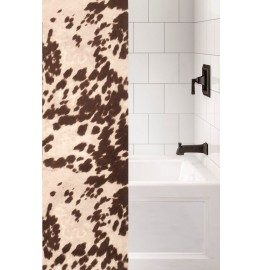 image for Udder Brown Faux Cowhide Shower Curtain Custom Made